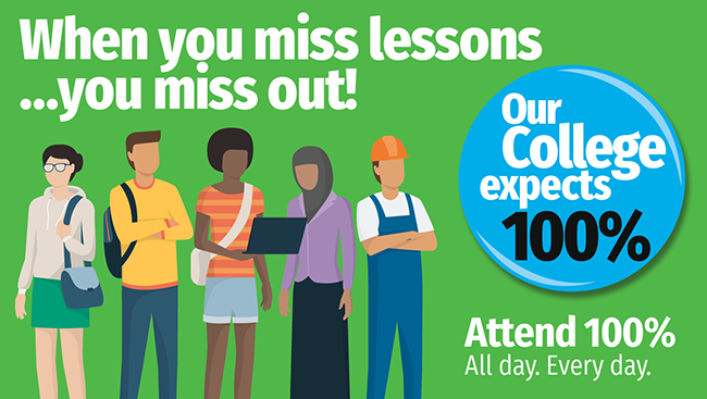 When you miss lessons…you miss out! Attend 100%. All day. Every day.